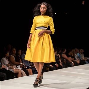 Royal canary yellow dress.